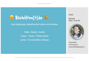 Spielgruppe Bastelfreu(n)de @ Familienzentrum Robinson
